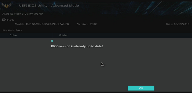 BIOS je aktuální