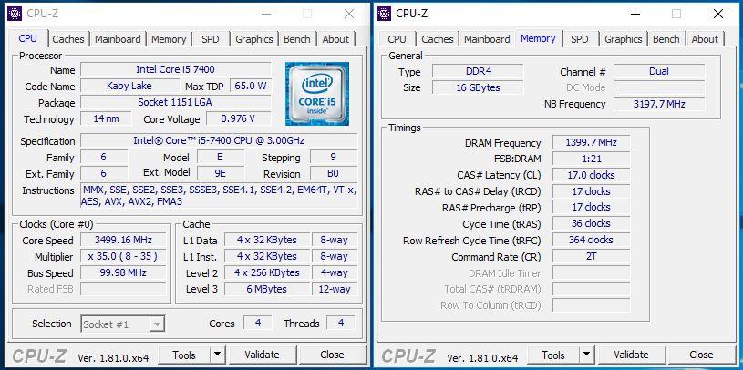Core i3-8100, Core i5-7400, Ryzen 3 1300X a A12-9800 v testu