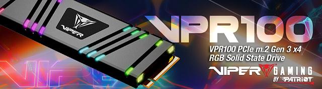 Viper VPR100 1 TB: TLC SSD disk s RGB osvětlením
