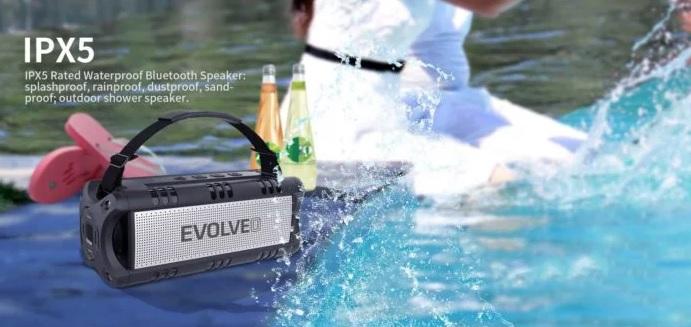 Odolný reproduktor Evolveo Armor Power 6A zahraje a dobije telefon