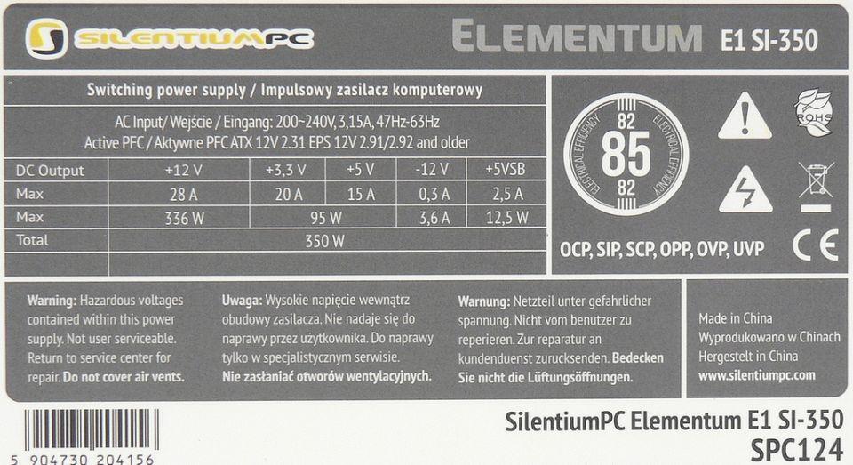 SilentiumPC Elementum E1 SI-350 (SPC124)
