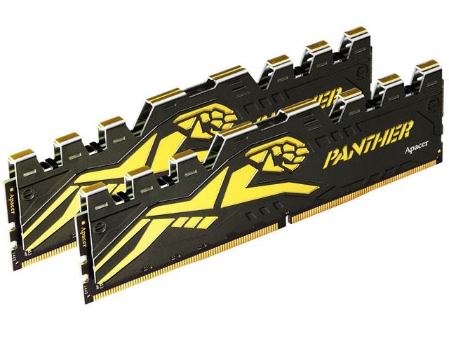Apacer Panther: DDR4 paměti s taktem až 2666 MHz a stylovým žlutočerným chladičem