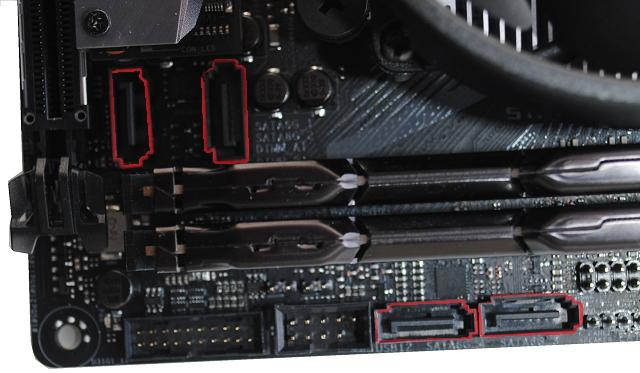 SATA porty na ASUS ROG STRIX X370-I GAMING