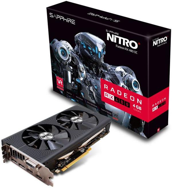 Grafická karta AMD Radeon RX 480 – Sapphire NITRO+ Radeon RX 480 4G D5