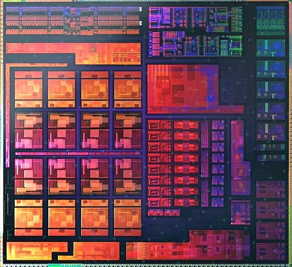 Render hlavních bloků čipu APU Cezanne (Ryzen 5000)
