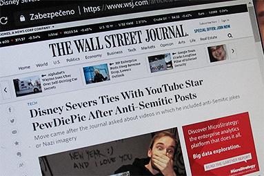 The Wall Street Journal Gate: PewDiePie a pád tradičních médií