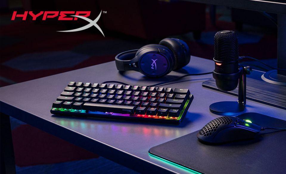 HyperX  Alloy Origins 60 je šedesátiprocentní herní klávesnice