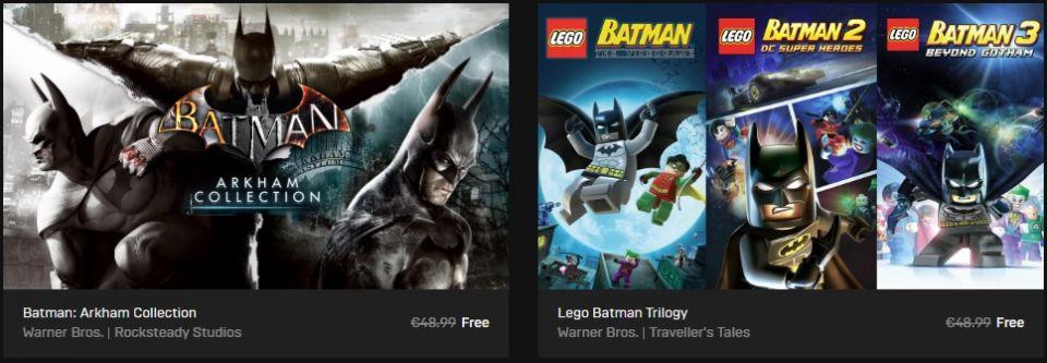 Stahujte z Epic Games Store šest zábavných her s Batmanem!