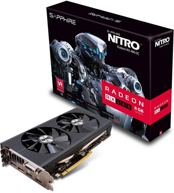 Grafická karta AMD Radeon RX 480 – Sapphire NITRO+ Radeon RX 480 8G D5