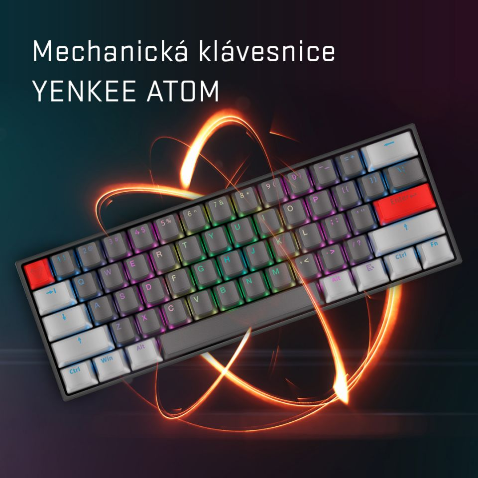 Yenkee Atom: kompaktní mechanická klávesnice