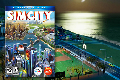 Nové SimCity – luxusní město... plné chyb.