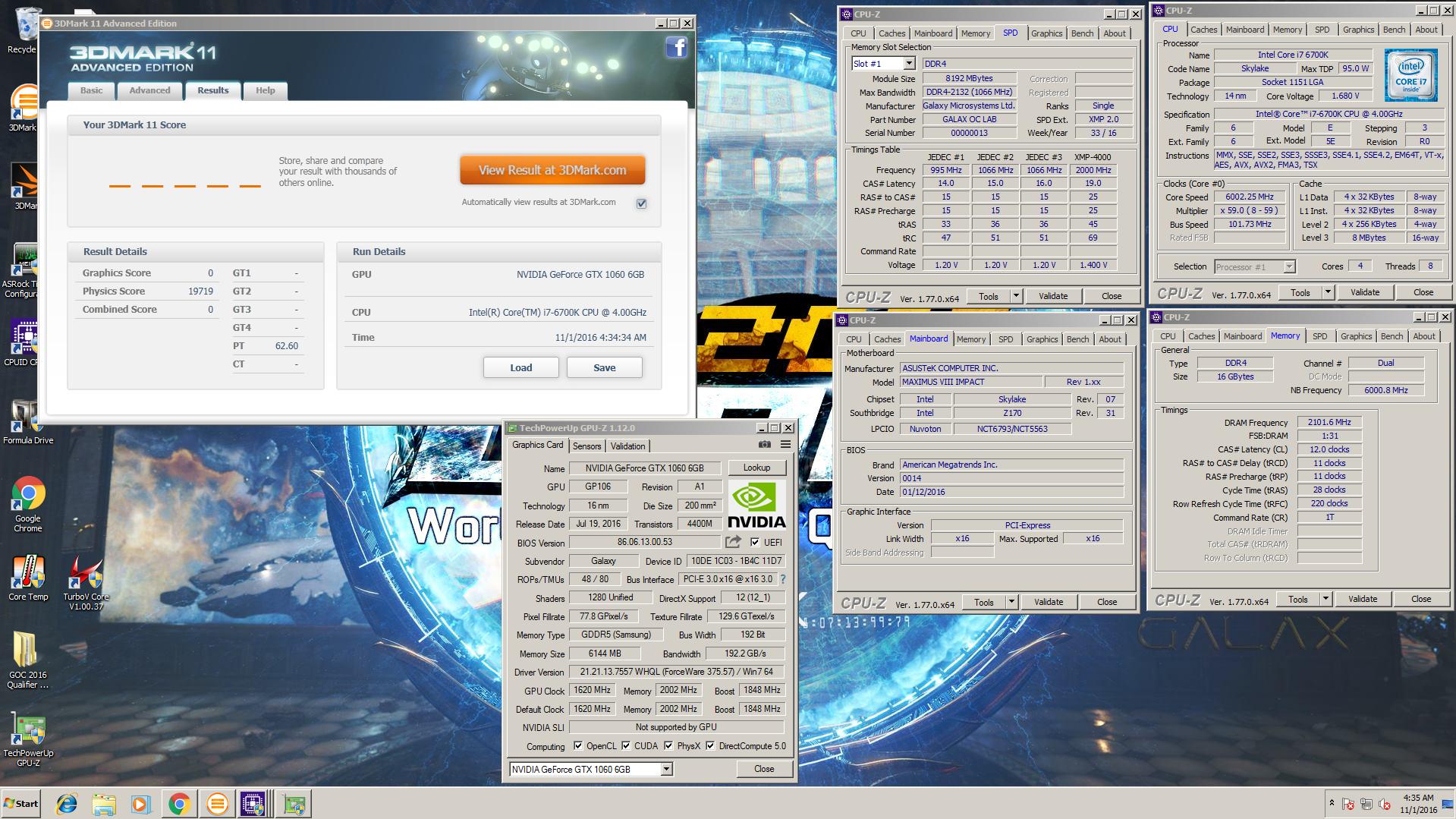 Galax HOF OC LAB Special Edition DDR4-4000 16GB