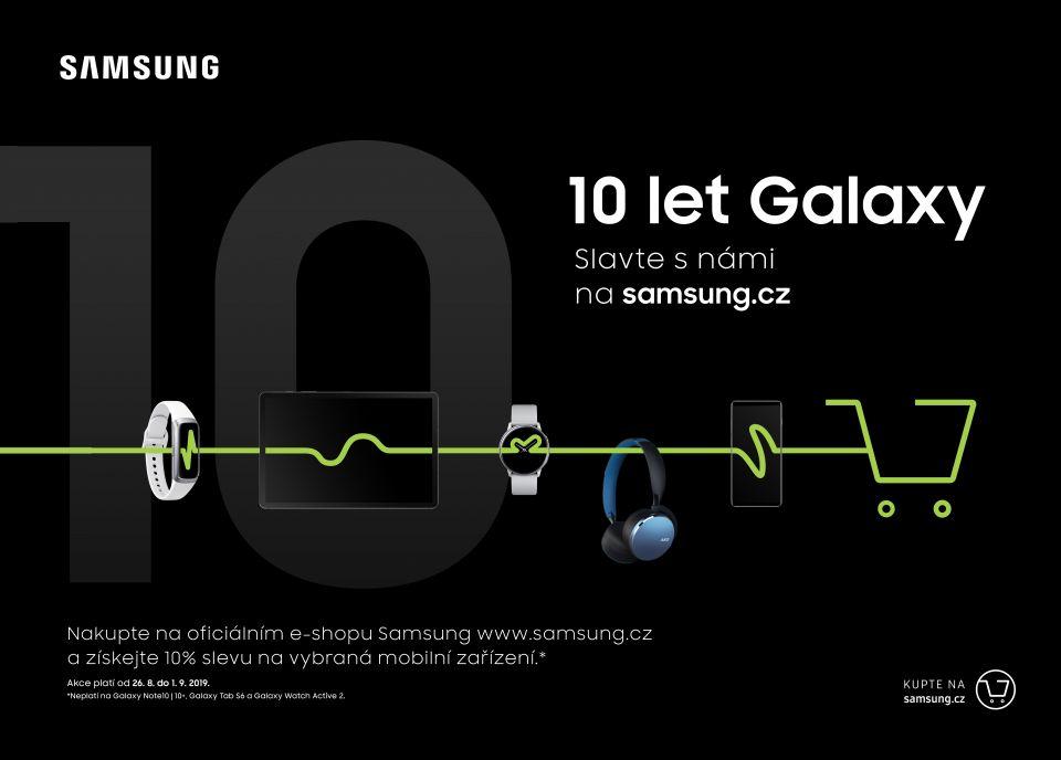 Samsung spouští u příležitosti deseti let Galaxy akci na svém e-shopu