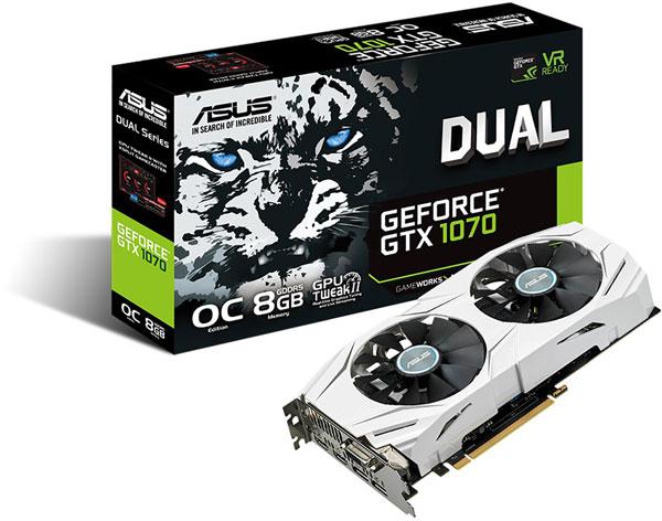Grafická karta nVidia GeForce GTX 1070 – ASUS GeForce GTX 1070 DUAL 8GB