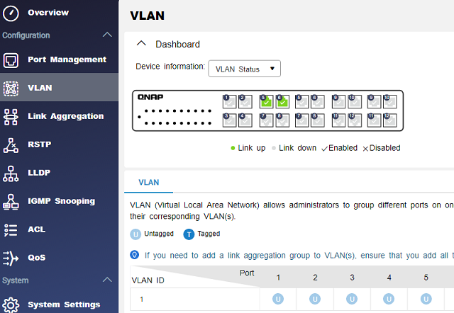 Definování VLAN - virtuální switche