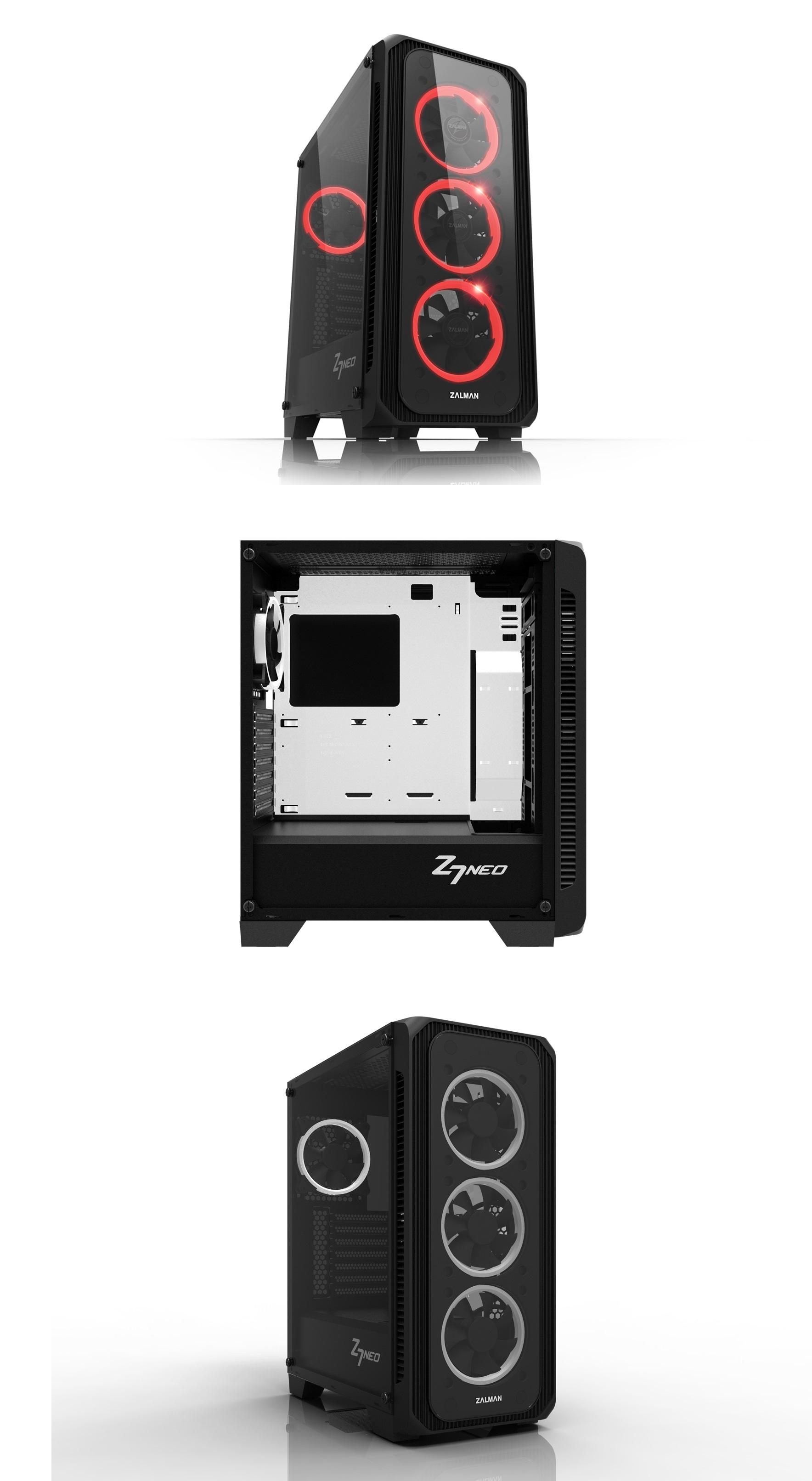 Zalman rozšiřuje nabídku počítačových skříní o model Z7 Neo