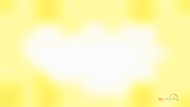Rovnoměrnost podsvícení při jasu 150 cd/m2