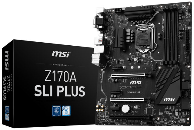 MSI Z170A SLI Plus: základní deska pro náročné v elegantním černém hávu