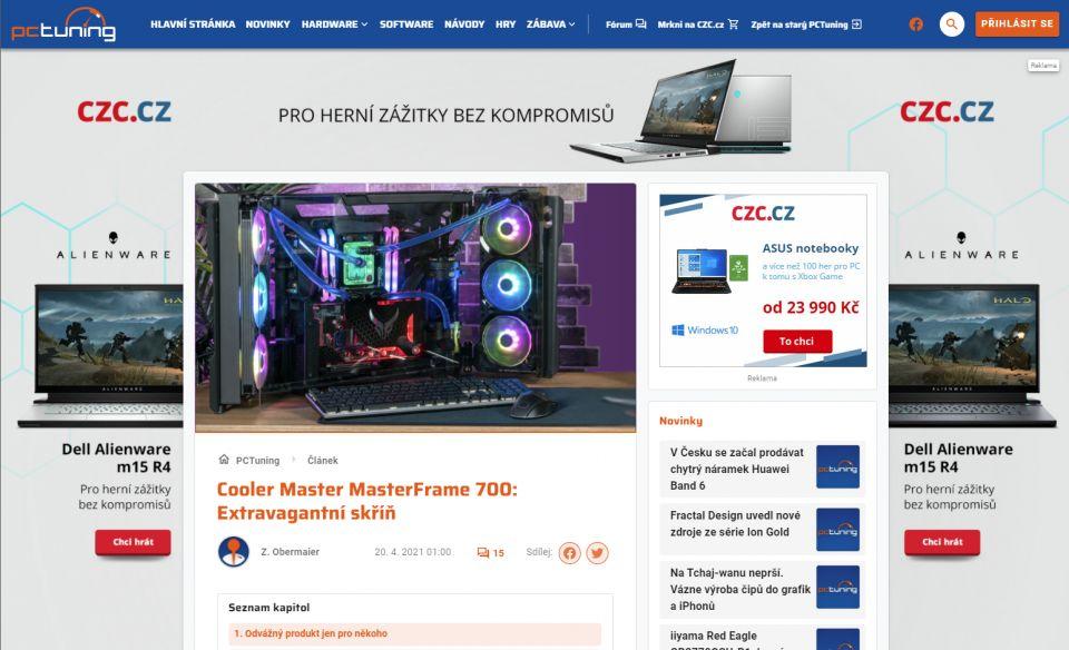 Beta PCTUNING.cz v novém kabátě a s lepší strojovnou