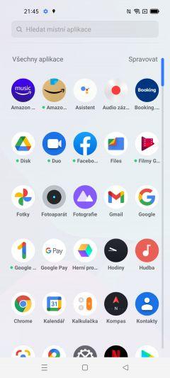 Přehled všech aplikací