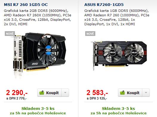 GeForce GTX 750 vs. Radeon R7 260 — Co koupit do tří tisíc