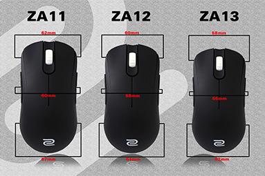 Zowie ZA11, ZA12 a ZA13: herní myš ve třech velikostech
