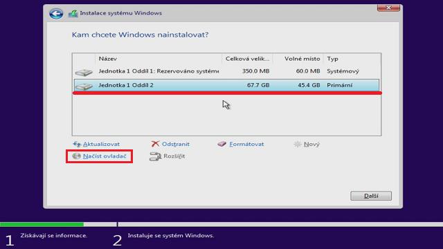 Instalace Windows 10 vidí iSCSI disk a je ochotná ho použít při instalaci
