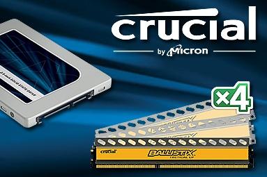 Soutěž s Crucial nejen o 1TB SSD MX200 a 32GB kit DDR3