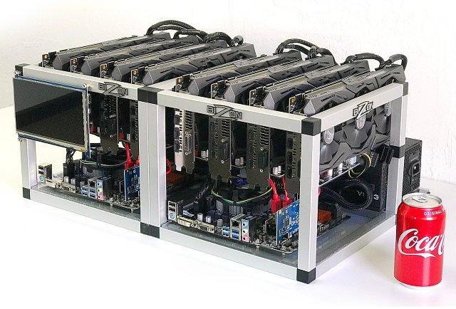 Hotová sestava Bizon od Shark Mining s osmi GTX 1070 za 180 000 Kč