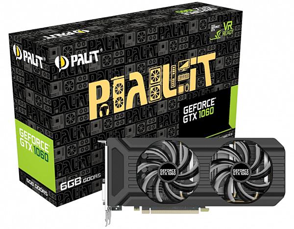 Grafická karta nVidia GeForce GTX 1060 – PALiT GeForce GTX 1060 Dual 6 GB