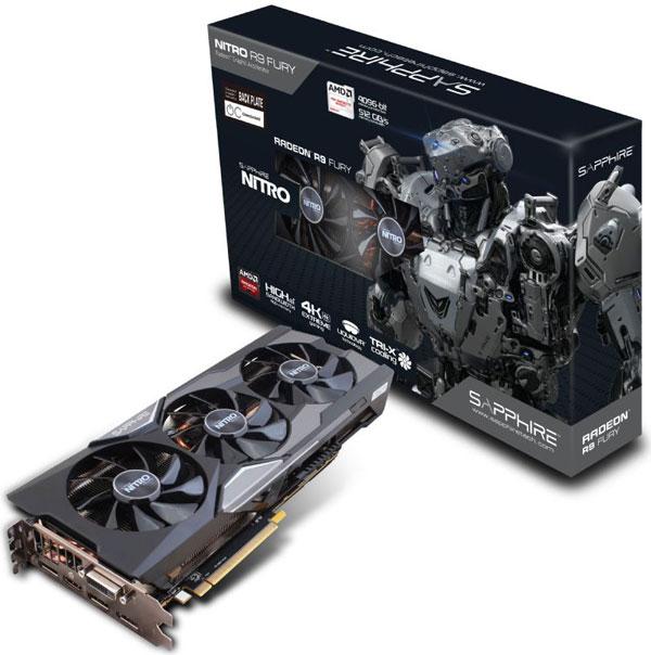 Grafická karta AMD Radeon R9 FURY – Sapphire NITRO Radeon R9 FURY 4G HBM