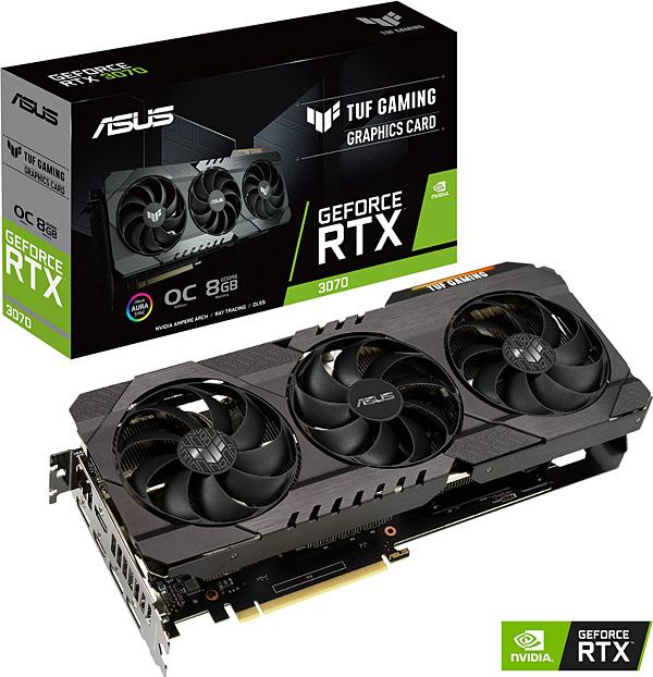 Grafická karta nVidia GeForce RTX 3070 – ASUS GeForce TUF-RTX3070-O8G-GAMING
