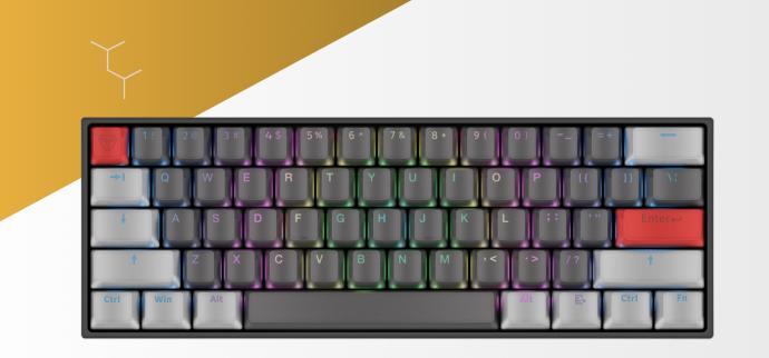 Soutěžte o tři herní mini RGB klávesnice Yenkee Atom