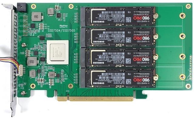 Highpoint 7505 PCIe 4.0 se čtyřmi disky Samsung 980 Pro