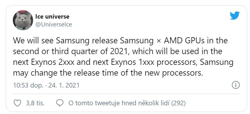 V nových smartphonech Samsung se objeví grafika od AMD