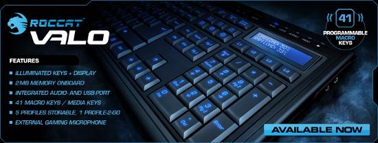 Roccat Valo - dlouho očekávaná herní klaviatura