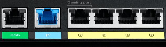 Pohled na síťové porty