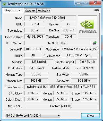 Goldmax Emperor - Dvě GeForce 280M v mobilním provedení