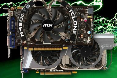 MSI N450 Cyclone a N460 HAWK — dvě vylepšené Fermi