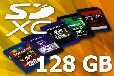 Srovnávací test pěti 128GB paměťových karet SDXC