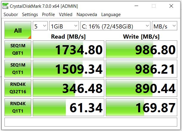 ASUS s diskem Intel