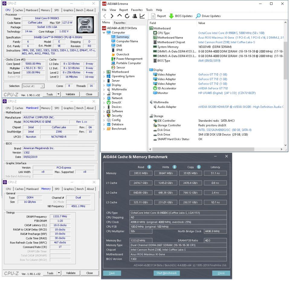 Deska Asus Maximus XI Gene + Core i9–9900KS