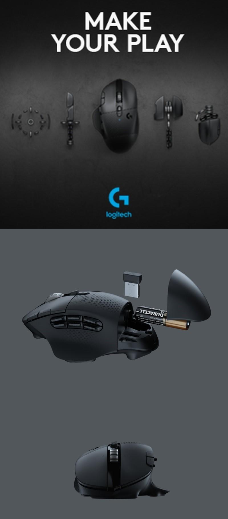 Logitech G604 Lightspeed: herní bezdrátová myš se snímačem HERO