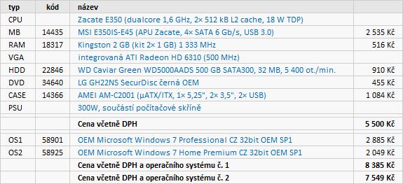 Doporučené sestavy a monitory – květen 2011
