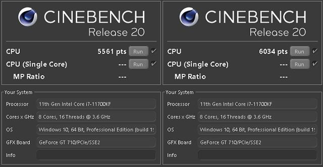 Intel Core i9–11900K a Core i7–11700K v testu
