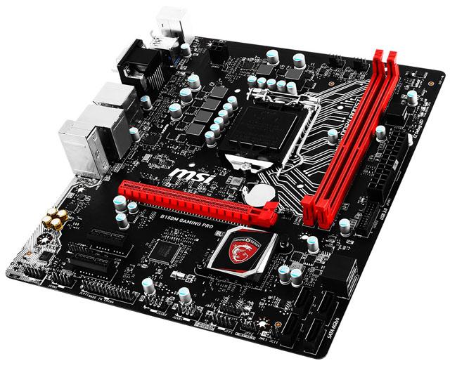 MSI představilo cenově dostupnou základní desku B150M Gaming Pro pro menší PC sestavy