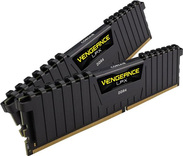 Paměťové moduly DDR4 Corsair Vengeance LPX Black