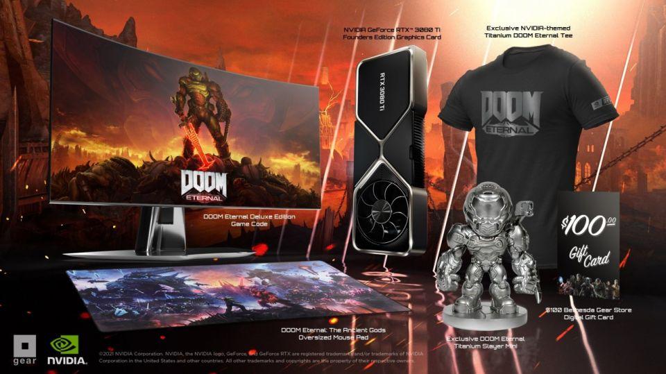 Exkluzivní bundle DOOM Eternal s GeForce RTX 3080 Ti bude jen pro 300 hráčů