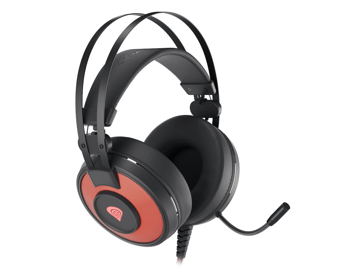 Genesis Neon 600 RGB jsou levná herní sluchátka s podsvícením