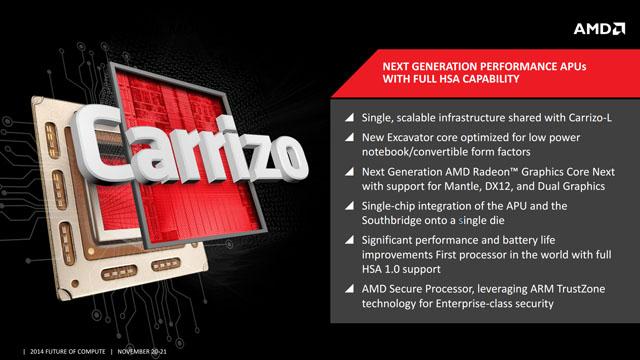 """AMD pracuje na mobilních APU nové generace """"Carrizo"""" využívajících architekturu HSA 1.0"""